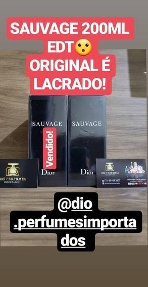 Sauvage 200ml Original É Lacrado