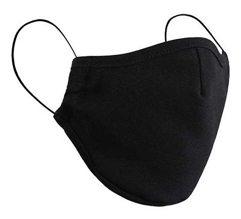 Paquete 3 Pzas Cubreboca Tela Lavable Negro Almohadilla Lob