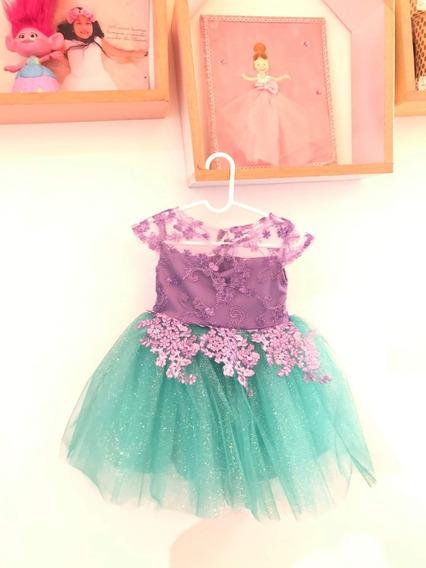 Vestido La Sirenita Ariel 1 Año