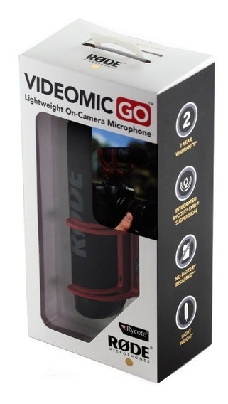 Microfone Direcional Rode Videomic Go Profissional Para Dslr