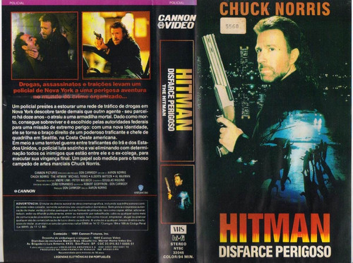 Hitman Disfarce Perigoso - O Matador - Chuck Norris - Raro | Mercado Livre