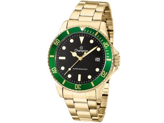 Relógio Champion Masculino Dourado Ca31266m Original
