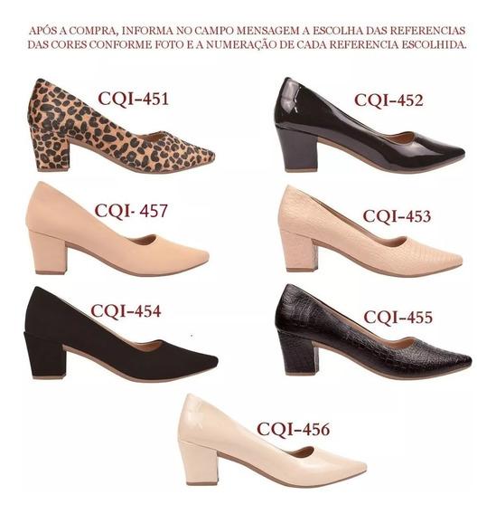 02 Pares Sapato Scarpin Feminino Chiquiteira Chiqui/1420