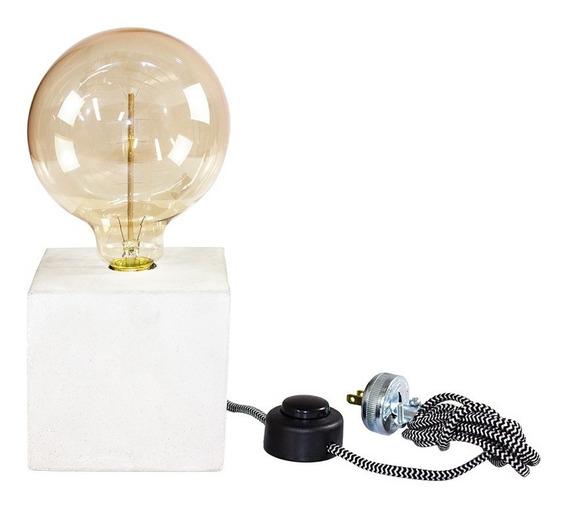 Lámpara Cubo Edison Mesa Escritorio Gris Claro Env Gratis!
