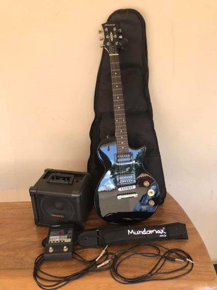 Kit Guitarra Strinberg Less Paul+pedaleira+afinador+amp, Etc