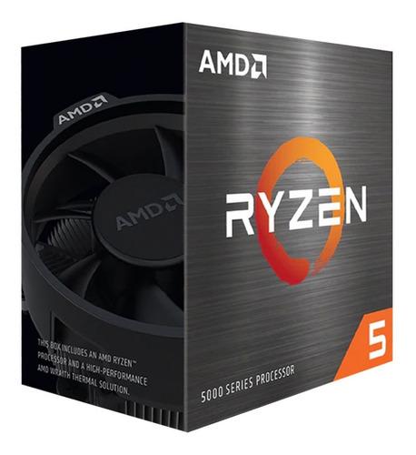 Imagen 1 de 2 de Procesador gamer AMD Ryzen 5 5600X 100-100000065BOX de 6 núcleos y  4.6GHz de frecuencia