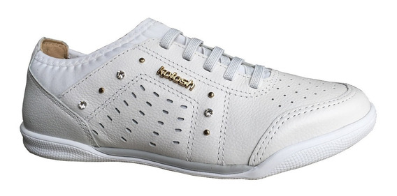 Tênis Feminino Kolosh C0374 Couro Sport Style Calce Fácil