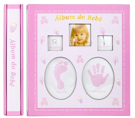 Álbum Fotográfico Bebê Rosa Para 120 Fotos 10x15