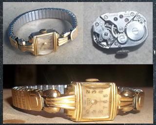 Lrbl. Antiguo Reloj Dama Venus, 17 Rubís Chapado En Oro