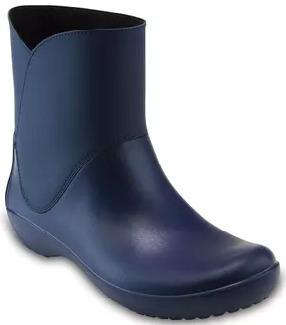 Botas Crocs Mujer Rainfloe Bootie W Azul 38 Al 41 203417410
