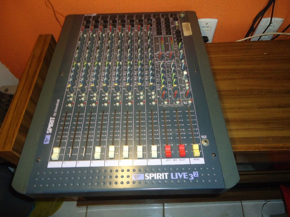 Mesa De Som Soundcraft Modelo Spirit Live 3.2 (no Estado)
