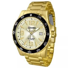 Relógio Masculino Dourado Xmgs1027