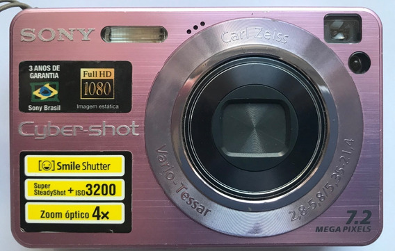 Câmera Fotográfica Sony Cyber-shot Dsc-w120 E Assessórios
