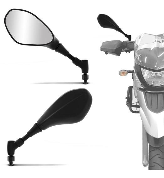 Retrovisor Moto Para Honda Bmw Gs 650 F800 Giro 360 Preto