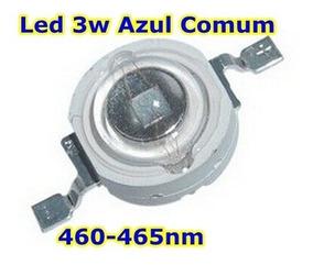 Kit 5 Unidades Super Led Chip 3w Azul Comum 460-465nm