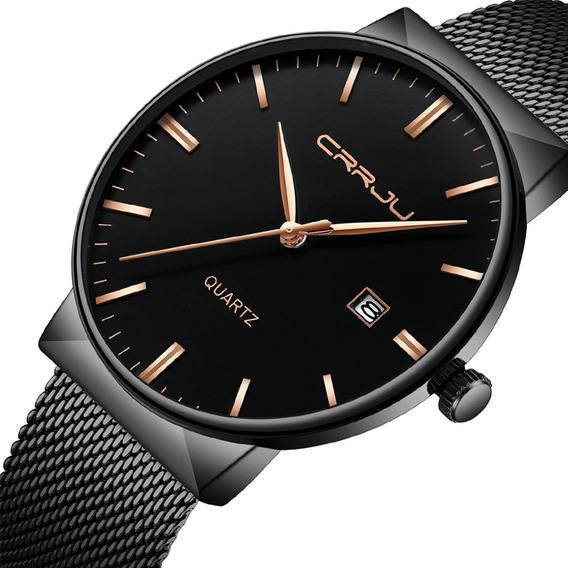 Relógios De Moda Homens Aço Inoxidável Esporte Quartzo An