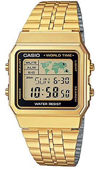 Relógio Casio Original Vintage World Time A500wga-1df