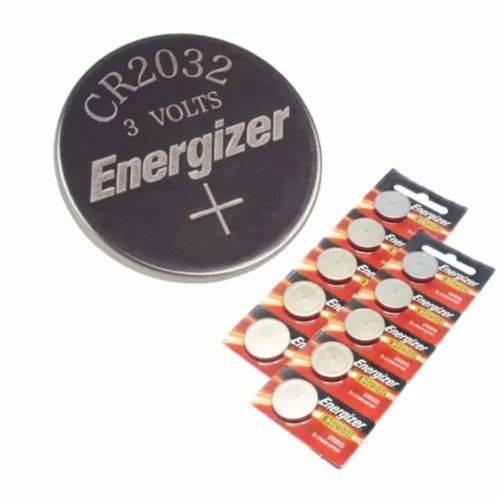 Pilha Cr 2032 Tipo Moeda Energizer Cartela C/ 10 Baterias
