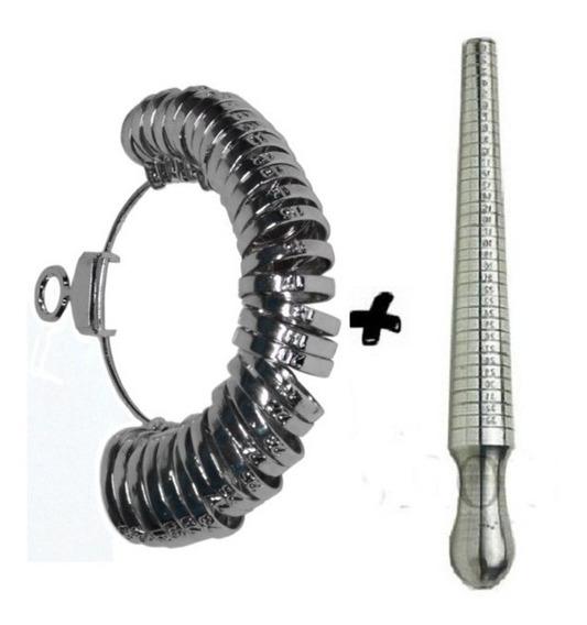 Aneleira Metal + Medidor De Anel De Alumínio