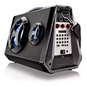 Caixa De Som Bluetooth Com Microfone Mp3 Player Radio Fm 546