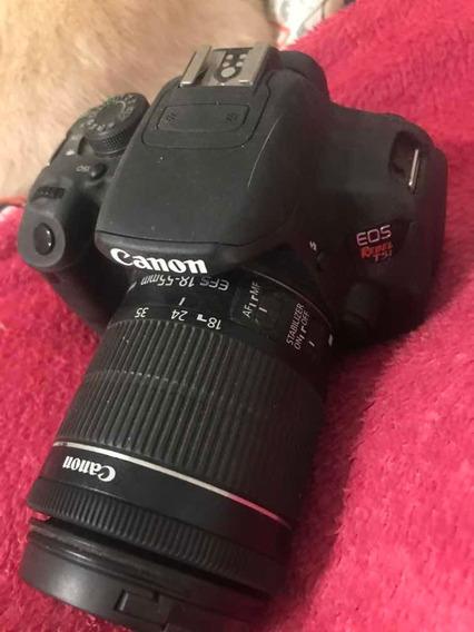 Câmera Cânon T5i Com Uma Bateria Extra Com O Tripé E Cartão