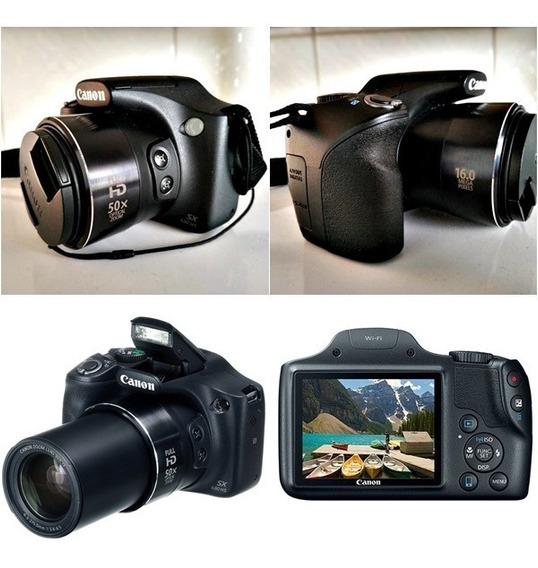 Câmera Canon Sx 530hs +bolsa+cartão-16gb +2baterias E Outros