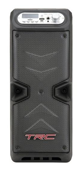 Caixa De Som Amplificada Trc 219 Bluetooth Bat Até 2h 35w