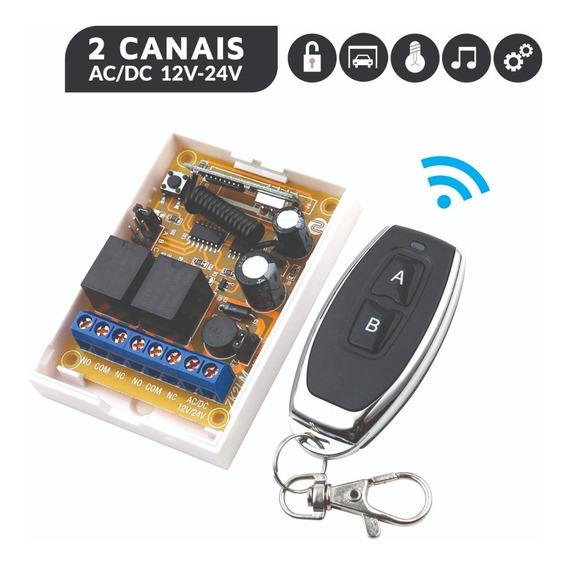 Interruptor Sem Fio 2 Canais 12v 24v 2 Controles