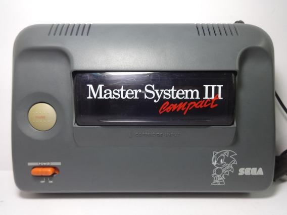 Só Console Master System 3 Compact Com Sonic Na Memória
