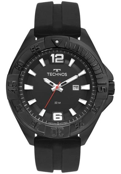 Relógio Masculino Technos 2115mtn/8p 50mm Silicone Preto