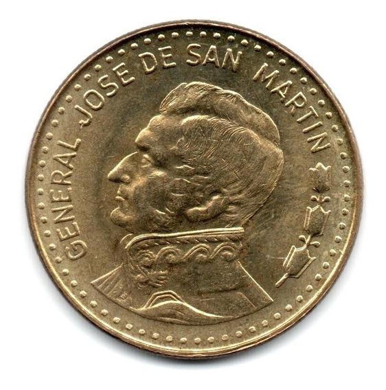 Moneda Argentina 100 Pesos Ley 1981 Hombro Recto Aunc