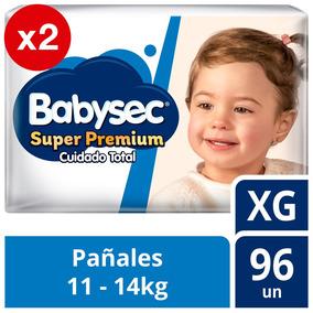 Pañal De Bebe Babysec Super Premium Pack X2 Talla Xg