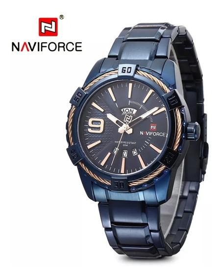 Relógio Original Naviforce Extra Luxo Social Esporte