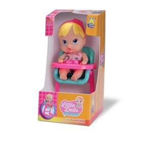 Boneca Baby Hora De Comer Little Dolls - Divertoys