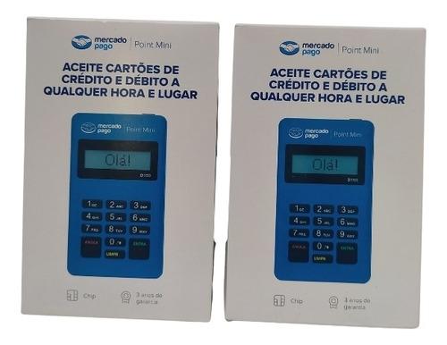Imagem 1 de 4 de Duas Máquina De Cartão Mercado Pago Point Mini, Nova Lacrada