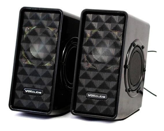 Caixa De Som Pc Notebook Super Bass Voxcube Vc-d400 8w