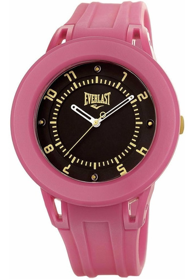 Relógio Unissex Everlast Analógico Esportivo Rosa