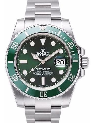 Relógio Rolex Submariner Fundo Preto/verde