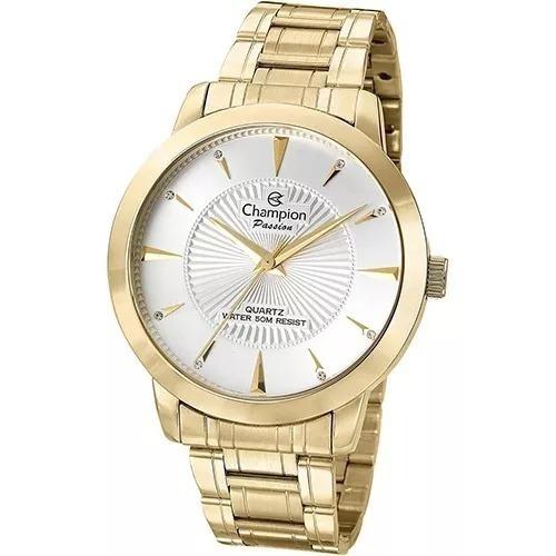 Relógio Feminino Champion Dourado Passion Cn29258h