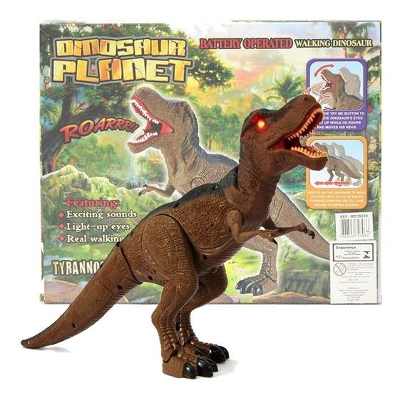 Dinossauro Rex Com Movimentos E Luz Faz Barulho