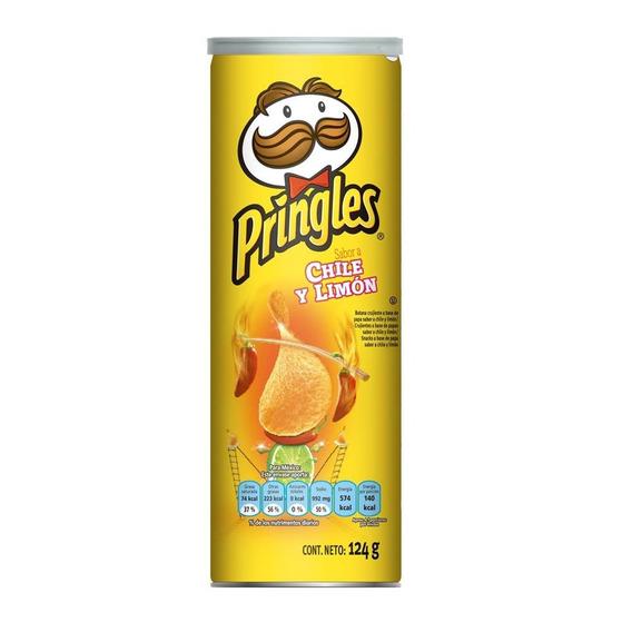 Pringles Chile Y Limon 124 Grs.