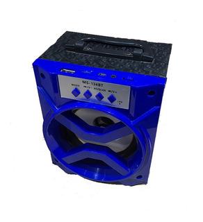 Parlante Portátil Con Bateria Recargable Usb Sd Bluetooth