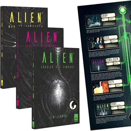 Kit/box- Alien A Trilogia Surgido Das Sombras 3 Vol + Pôster