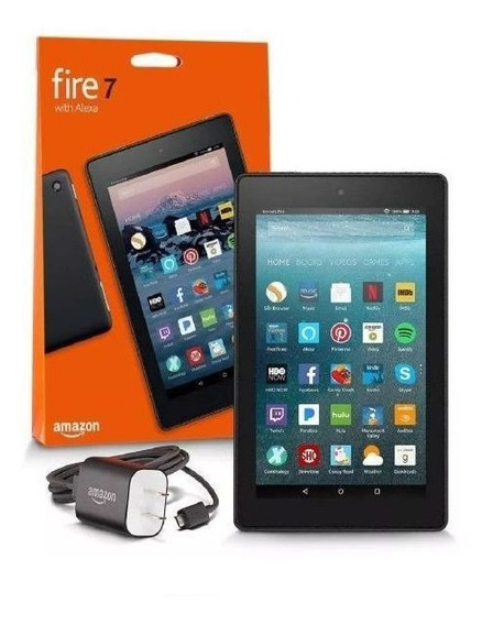 Tablet Amazon Fire 7 16gb Preto Wi-fi Com Alexa