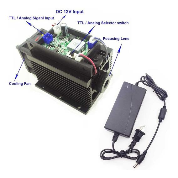 Ttl Módulo Laser Foco Laser Azul 450nm 15w Cnc 15000mw