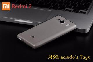 Xiaomi Redmi 2 - Capa Gel Ultra Fina De 0.4mm Fumê / Cinza