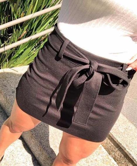 Shorts Saia Tendência Moda Blogueira Laço - Groovy Forever