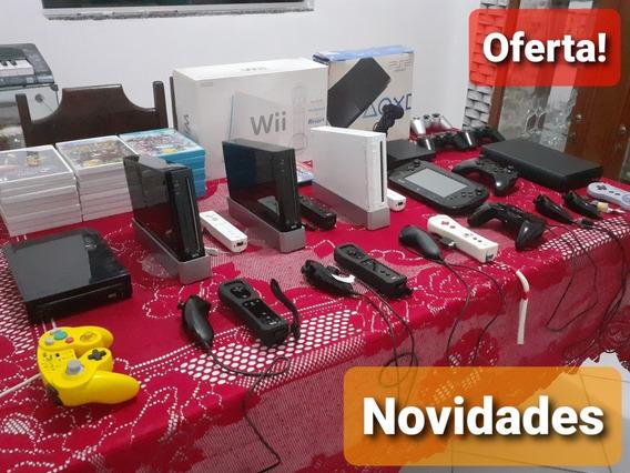 Nintendo Wii Wiiu Completo Desbloqueado+jogos,vários Modelos