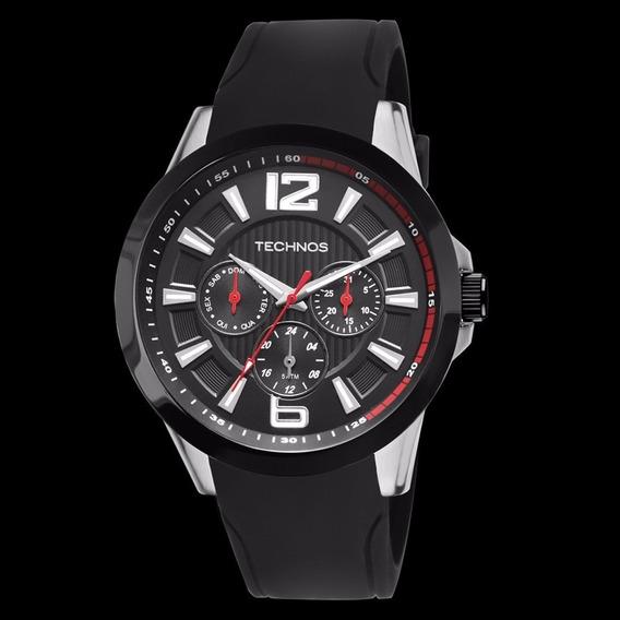 Relógio Technos Masculino Racer Silicone Preto 6p29ahc/8p Original