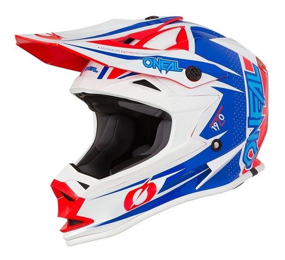 Casco Moto Oneal Serie 7 Strain Blue Motocross Enduro